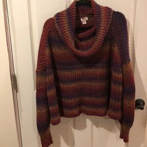 Loose fitting cowl neck sweater